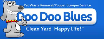 Doo Doo Blues logo, dog poop pickup for nashville